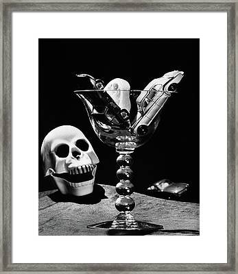 Still Life Concept Of Drunk Driving Toy Framed Print