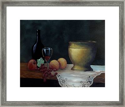 Framed Print featuring the painting Still Life by Debra Crank