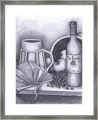 Still Life Drawing Framed Print by Kamil Swiatek