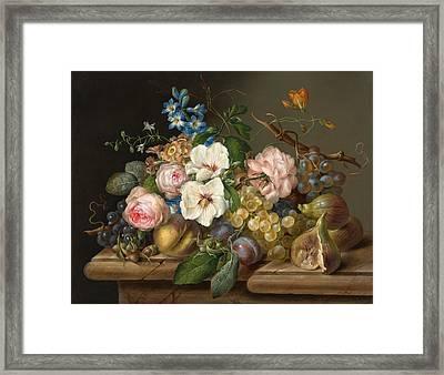 Still Life Framed Print by Franz Xaver Petter