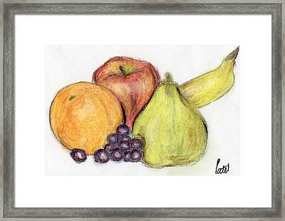 Still Life - Fruit Framed Print by Bav Patel