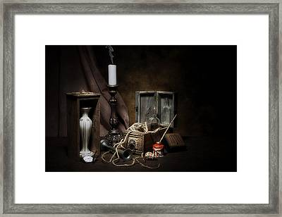 Still Life - General Vintage Items Framed Print by Tom Mc Nemar