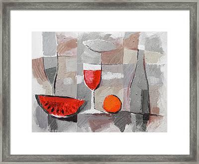 Still Life Grey Framed Print by Lutz Baar