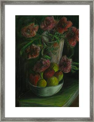 Still Life In A Dark Room Framed Print by Michael Anthony Edwards
