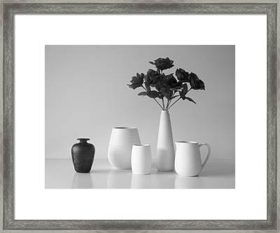 Still Life In Black And White Framed Print