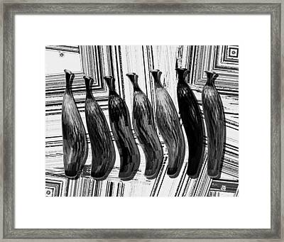Still Life In Black And White Framed Print by Mario Perez