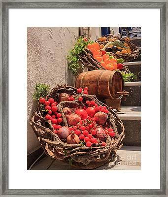 Still Life In Capri Framed Print by James Cassidy