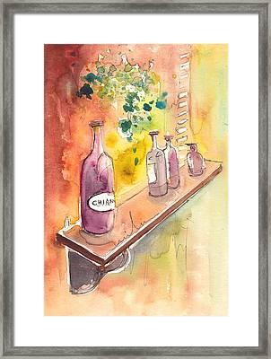 Still Life In Chianti In Italy Framed Print by Miki De Goodaboom