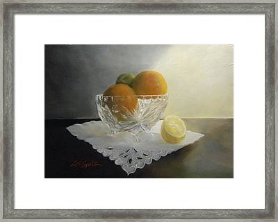 Still Life In Crystal Framed Print