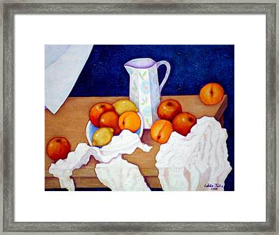 Still Life In Honor Of Cezanne   Framed Print by Madalena Lobao-Tello