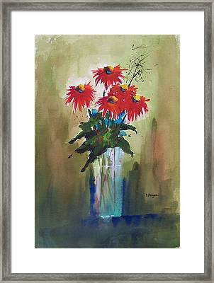 Still Life In Red Framed Print