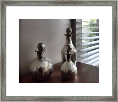 Still Life In Silver 2 Framed Print by Cathy Anderson