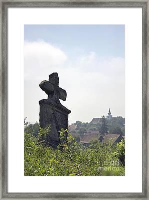 Still Life In The Cemetery Framed Print by Odon Czintos