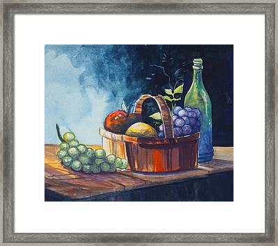 Still Life In Watercolours Framed Print by Karon Melillo DeVega