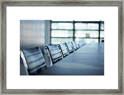 Still-life Of Chairs In Big Stylish Framed Print by Klaus Vedfelt