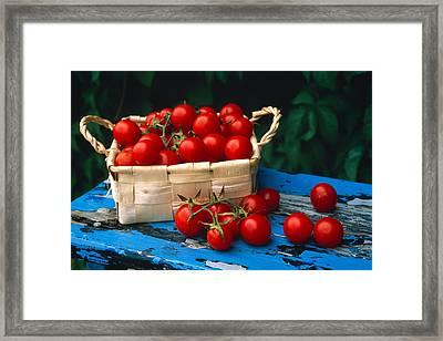 Still Life Of Cherry Tomatoes Framed Print by Panoramic Images