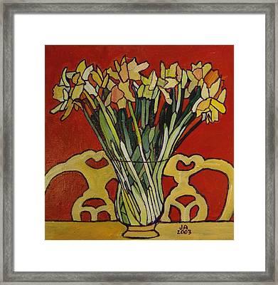 Still Life Of Flowers Framed Print