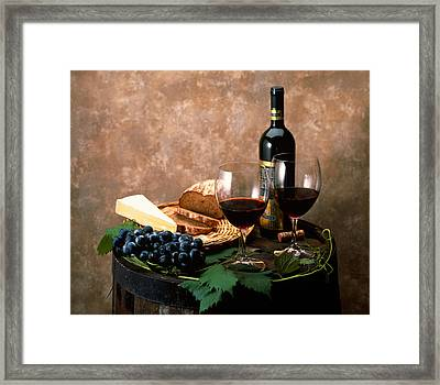 Still Life Of Wine Bottle, Wine Framed Print