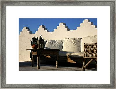 Still Life On A Roof Terrace Old Medina Tangier Morocco Framed Print by PIXELS  XPOSED Ralph A Ledergerber Photography