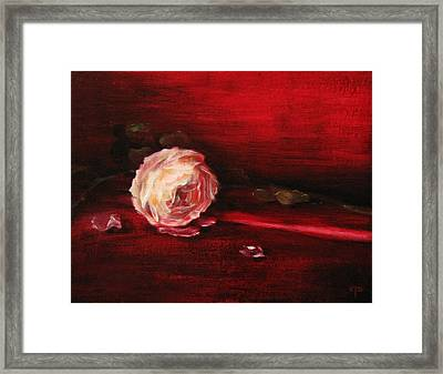 Still Life - Original Painting. Part Of A Diptych.  Framed Print by Tanya Byrd