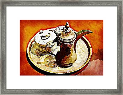 Coffee Time Framed Print by Peter Waters