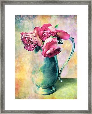 Still Life Roses Framed Print by Jessica Jenney