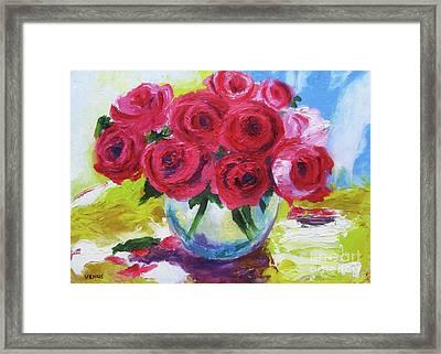 Still Life Roses Framed Print by Venus
