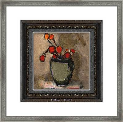 Framed Print featuring the painting Still Life Stl2 by Pemaro