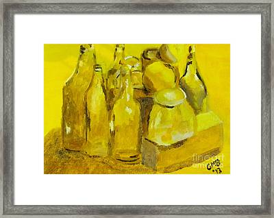 Still Life Study In Yellow Framed Print by Greg Mason Burns
