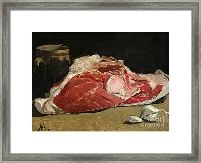 Still Life The Joint Of Meat Framed Print by Claude Monet