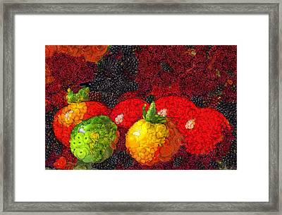 Still Life Tomatoes Fruits And Vegetables Framed Print by Dan Sproul
