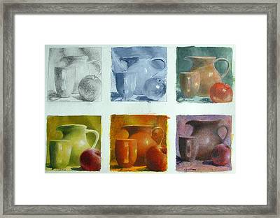 Still Life Variation On A Theme Framed Print by Elizabeth Crabtree