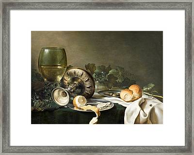 Still-life Framed Print by Willem Claeszoon Heda