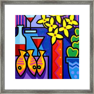 Still Life With 3 Fish  Framed Print