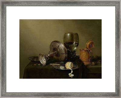Still Life With A Gilt Cup Framed Print by Willem Claesz Heda