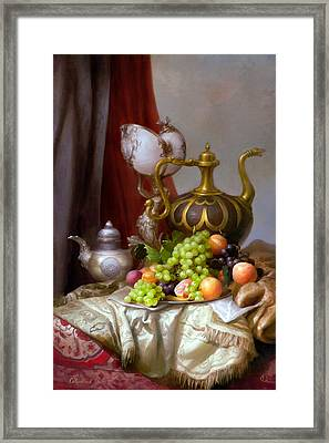 Still-life With A Glass Of Dutch Framed Print