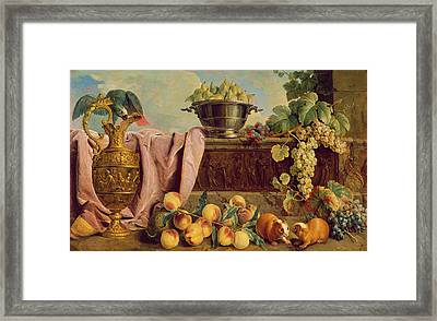Still Life With A Jug, 1734 Oil On Canvas Framed Print