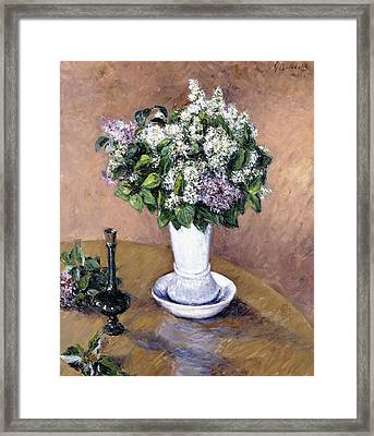 Still Life With A Vase Of Lilac Framed Print