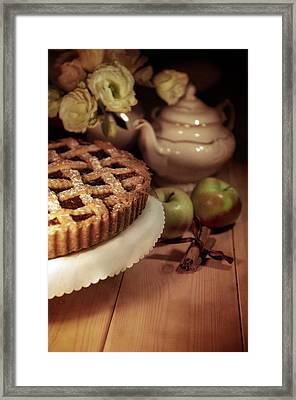 Still Life With Apple Pie Framed Print