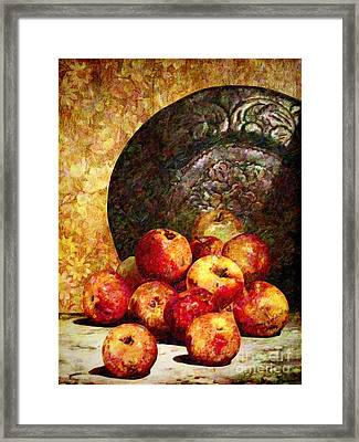 Still Life With Apples Framed Print by Lianne Schneider