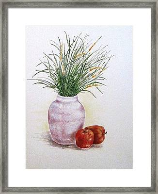 Still Life With Apples Framed Print by Renee Goularte