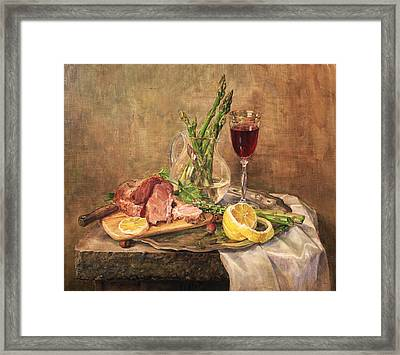 Still Life With Asparagus Framed Print