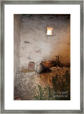 Still Life With Basket Framed Print by Elizabeth Carr