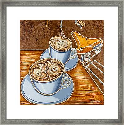 Still Life With Bicycle Framed Print by Mark Jones