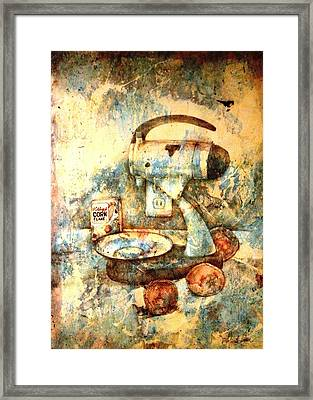 Still Life With Blender Framed Print by Ron Carson