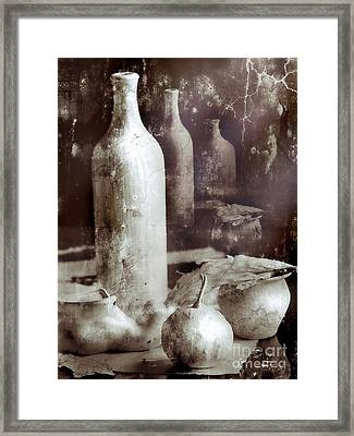 Still Life With Bottle And Reflections Framed Print