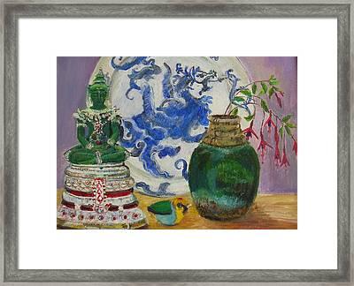Still Life With Buddha Framed Print