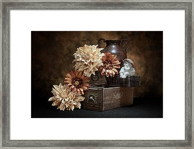 Still Life With Cherub Framed Print by Tom Mc Nemar