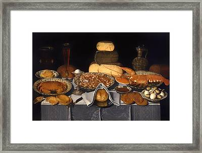 Still Life With Crab Shrimp And Lobsters Framed Print by Mountain Dreams