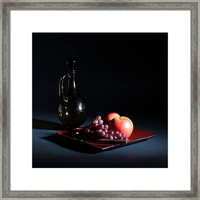 Still Life With Decanter Framed Print by Joe Kozlowski